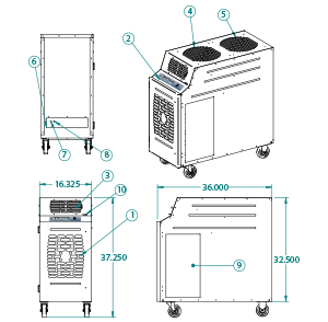 portable air cooler KIB-1811
