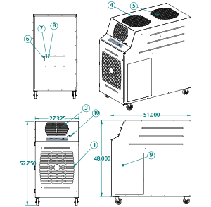 portable air cooler KIB-6021