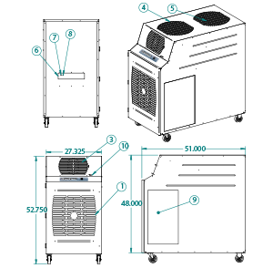 portable air cooler KIB-6023