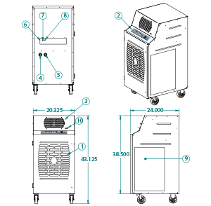 portable water cooled unit kwib-2421